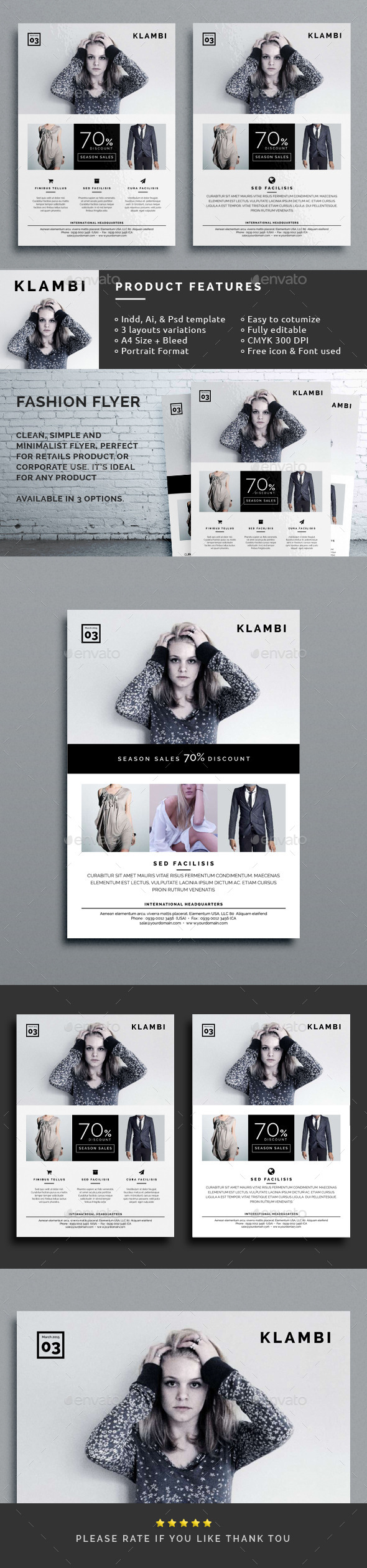 GraphicRiver Klambi Fashion Flyer 10195057