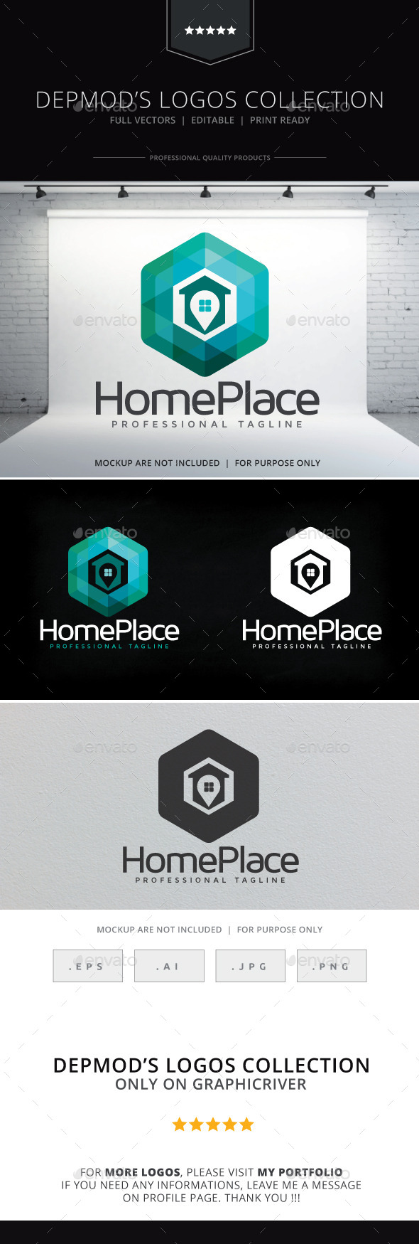 GraphicRiver Home Place Logo 10239708
