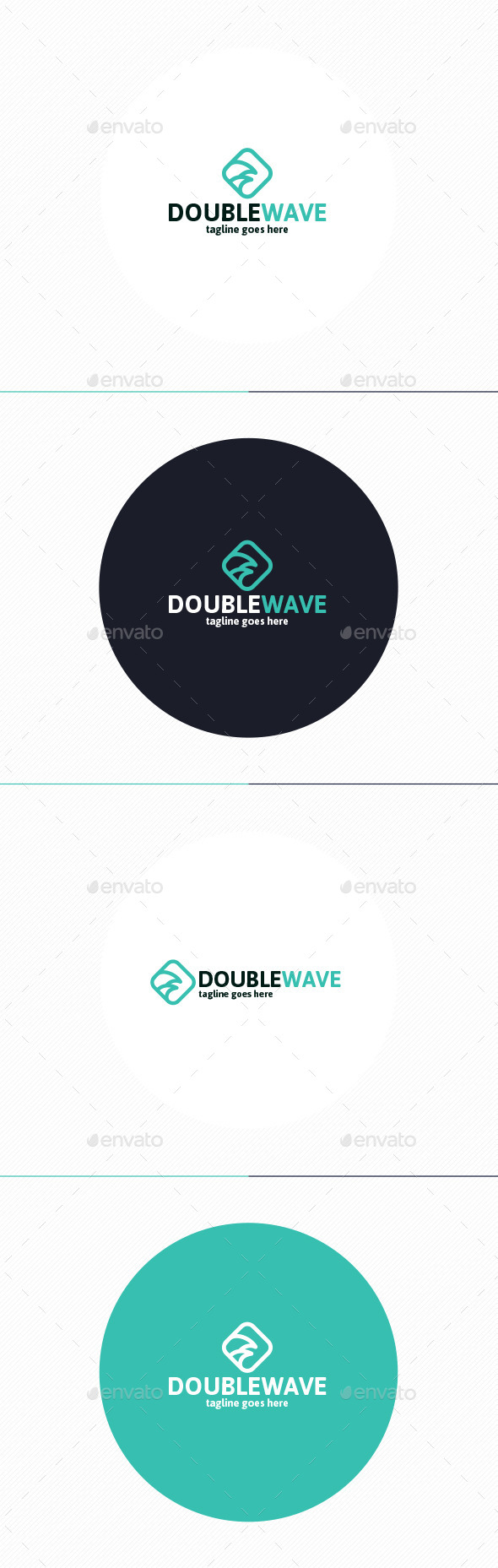 GraphicRiver Double Wave Logo 10239719
