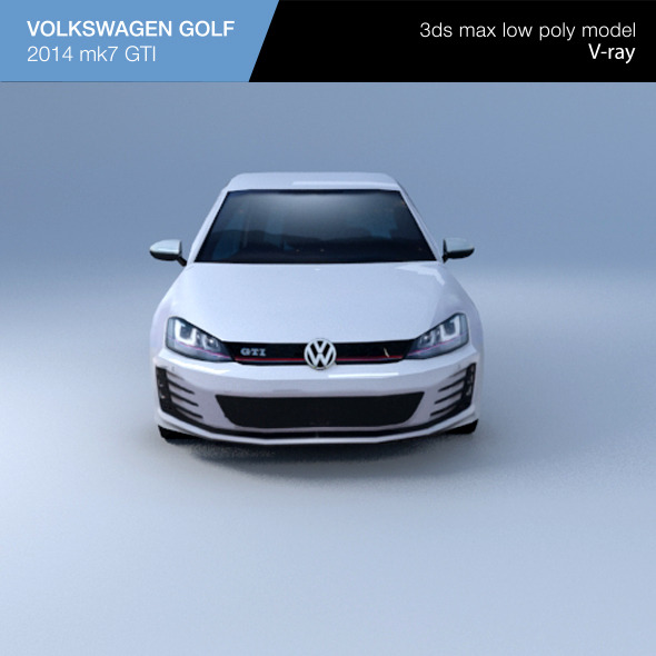 3DOcean VW GOLF hatchback 2014 10239839