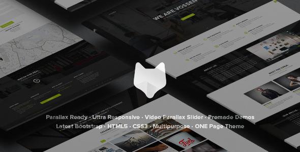 Vossen - Responsive Parallax Multipurpose Template Download