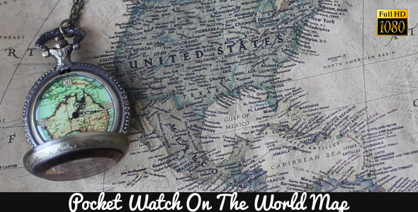 Pocket Watches On The World Map 4