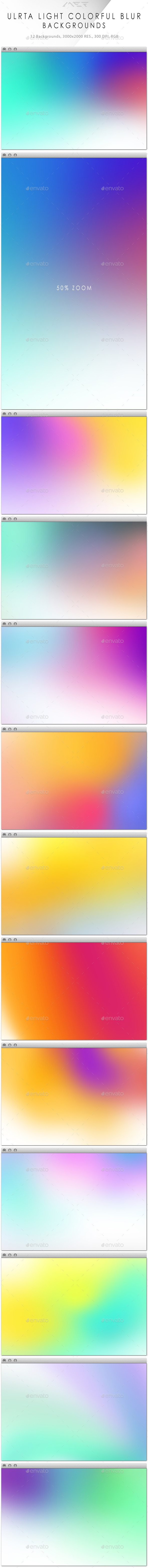 GraphicRiver Ultra Light Colorful Blur Backgrounds 10240278