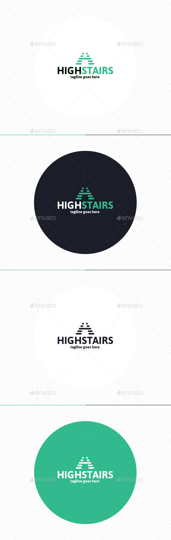 GraphicRiver High Stairs Logo Letter H 10240340