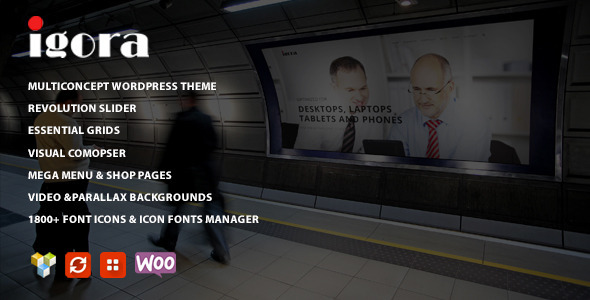 ThemeForest Igora Multi Concept Wordpress Theme 10240368