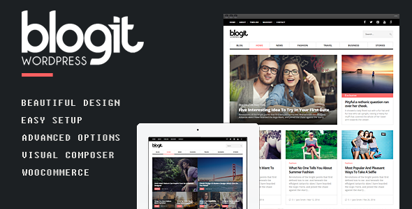 ThemeForest Blogit Clean Blog Magazine WordPress Theme 10240461