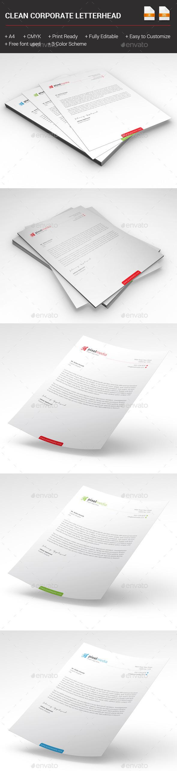 GraphicRiver Clean Corporate Letterhead 10240599