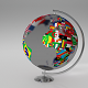 Earth Globe (World Map with Flags)
