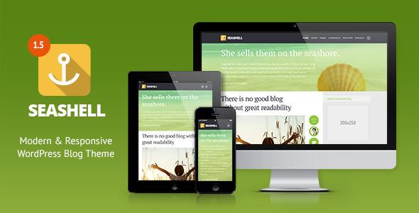 SeaShell - Modern Responsive WordPress Blog Theme - Personal Blog / Magazine