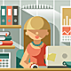 Flat Office Team Accountant - GraphicRiver Item for Sale
