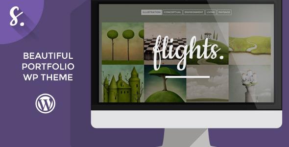 Flights - Creative Portfolio WordPress Theme - Portfolio Creative