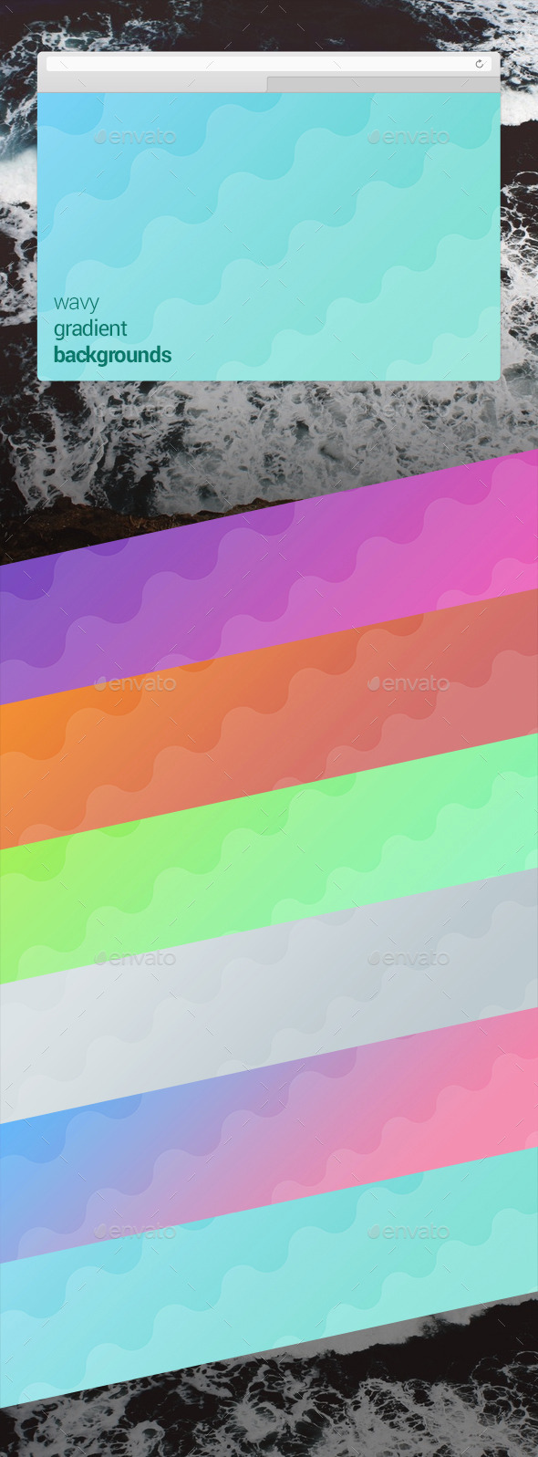 Wavy Gradient Backgrounds