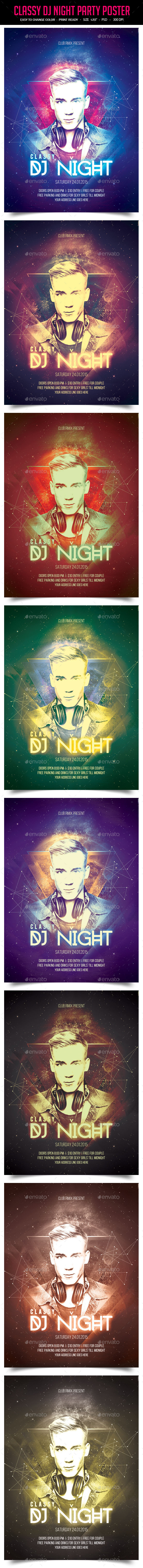 GraphicRiver Classy Dj Night Party Poster 10184478