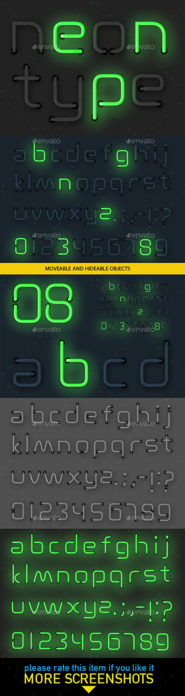 GraphicRiver Neon Alphabet 10241561