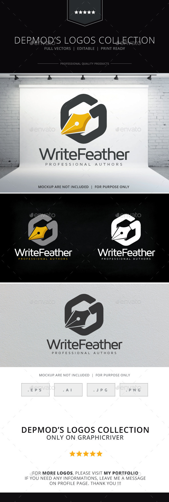 GraphicRiver Write Feather Logo 10241570