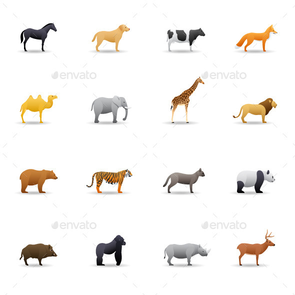 GraphicRiver Color Vector Animals 10241649