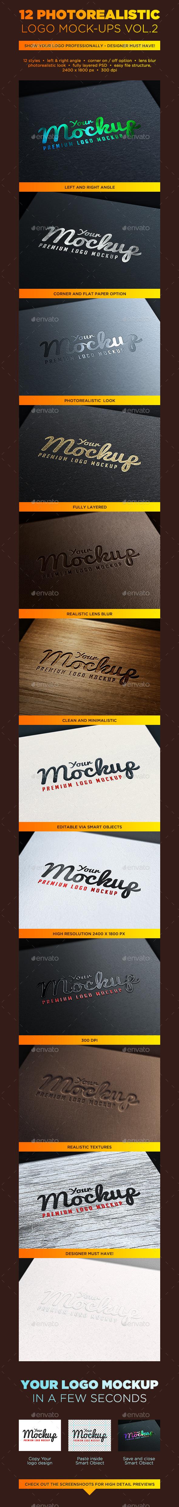 GraphicRiver Your Mockup Logo Mockups VOL.2 10204190