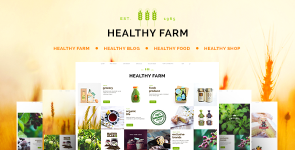 ThemeForest Healthy Farm Food & Agriculture WordPress Theme 10241920