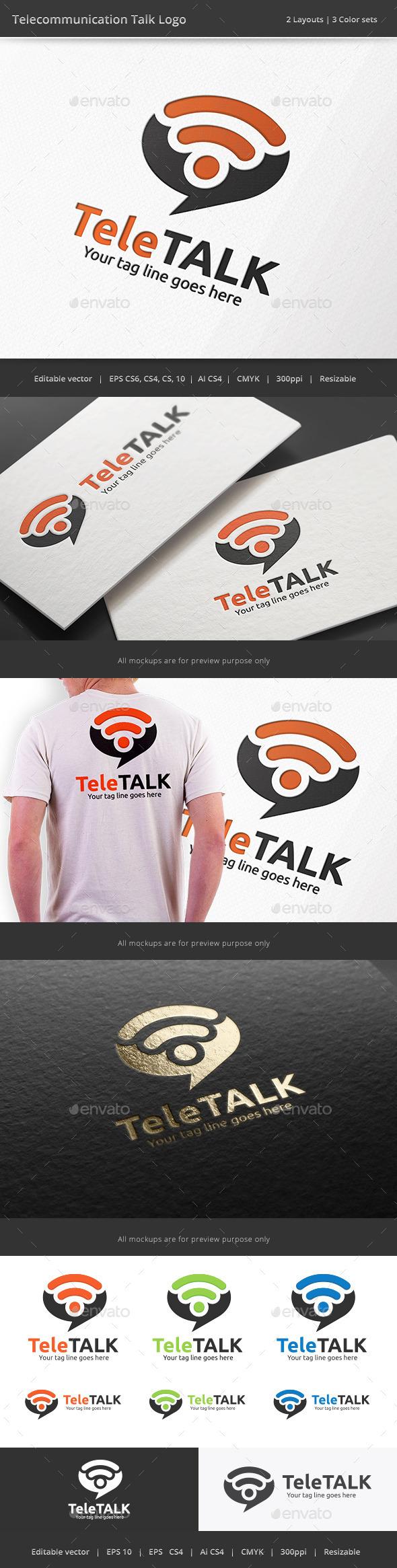 GraphicRiver Telecommunication Talk Logo 10242211