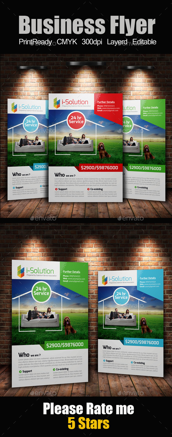 GraphicRiver A4 Business Flyer 10242360