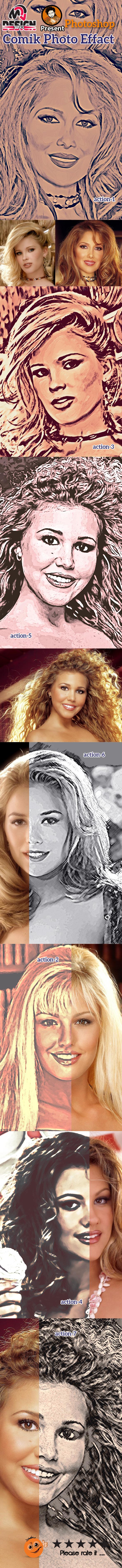 GraphicRiver Comik Photo Effect 10242488