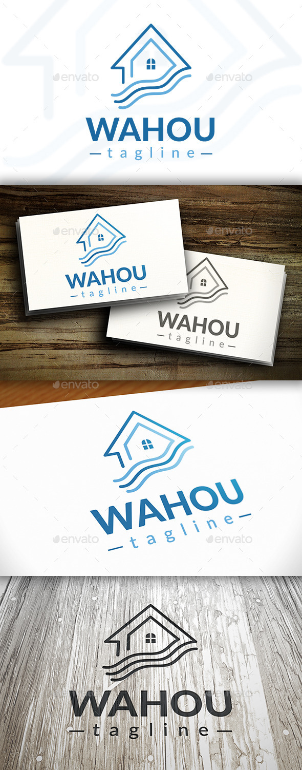 GraphicRiver Wave House Logo 10242512