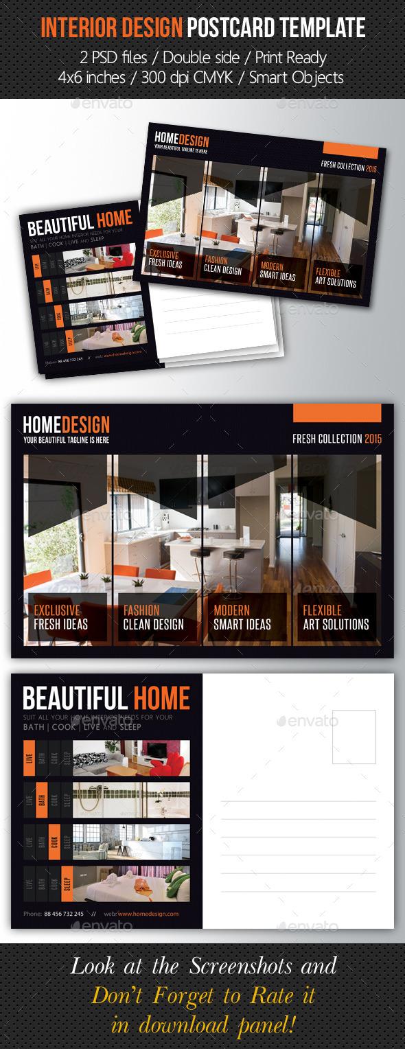 GraphicRiver Interior Design Postcard Template V03 10242540