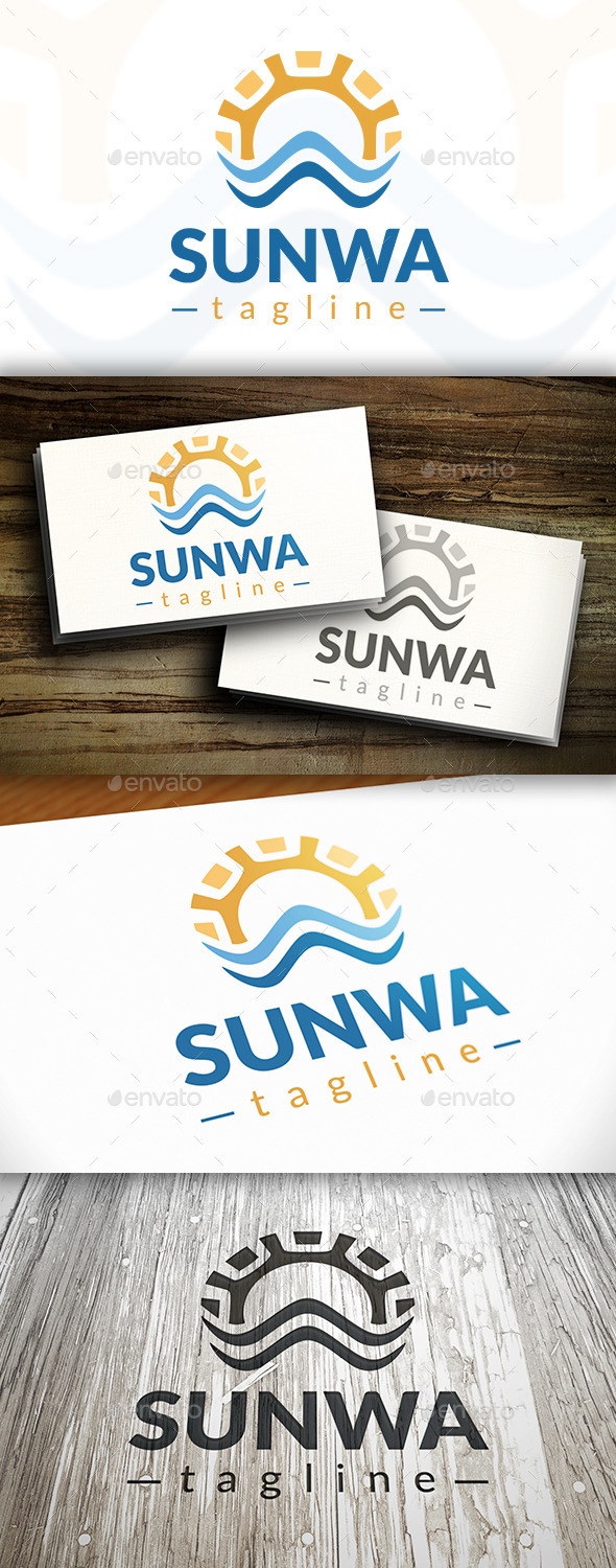 GraphicRiver Sun Waves Logo 10242858