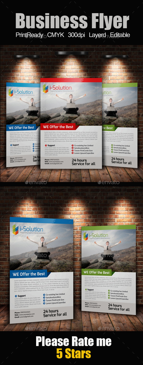 GraphicRiver A4 Business Flyer 10242868