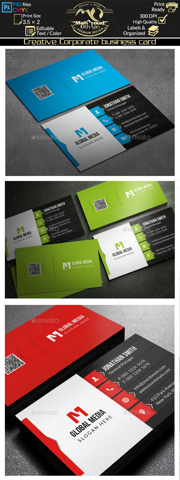GraphicRiver Creative Corporate Business Card 75 10242947