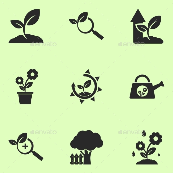 GraphicRiver Plants Icons 10243070