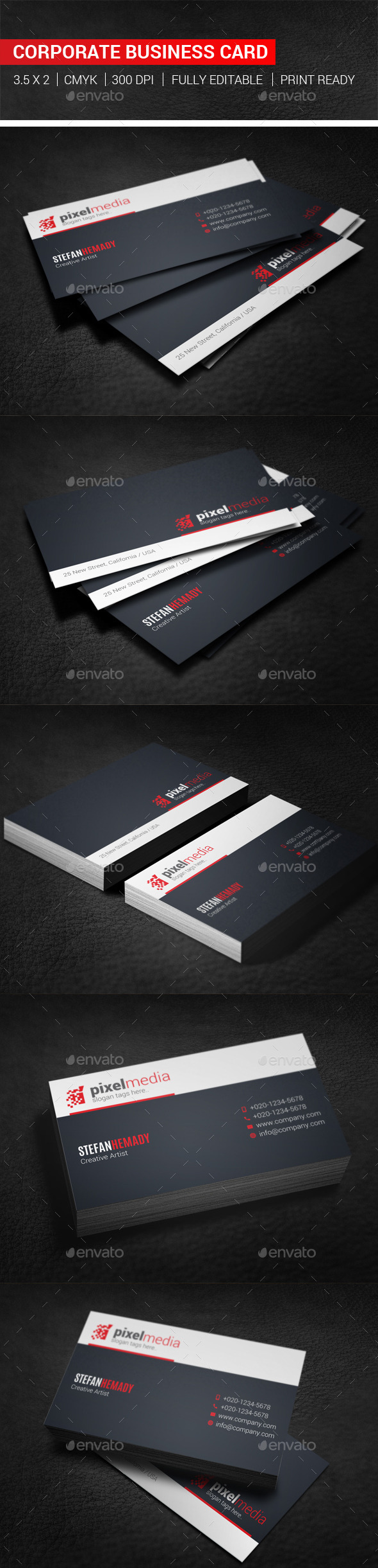 GraphicRiver Corporate Business Card 10243136
