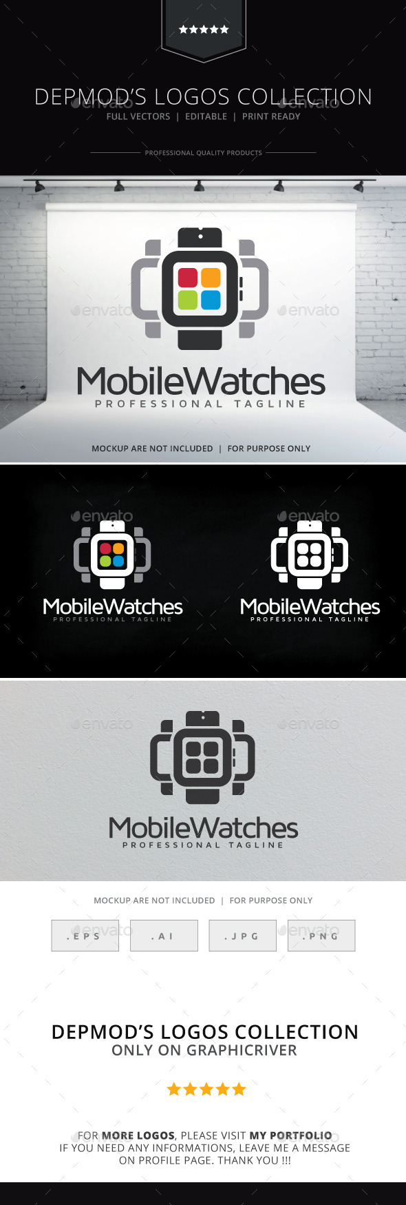 GraphicRiver Mobile Watches Logo 10243260