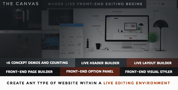 ThemeForest The Canvas Multi-Purpose Live Editing Theme 9935214