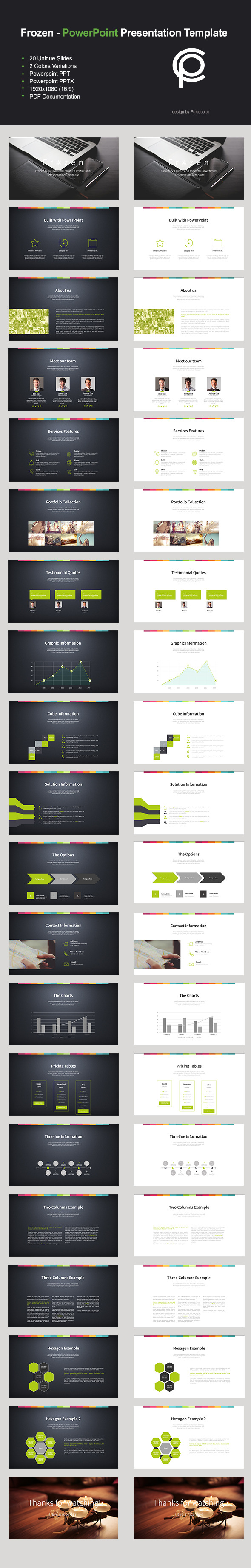 GraphicRiver Frozen PowerPoint Presentation Template 10243333
