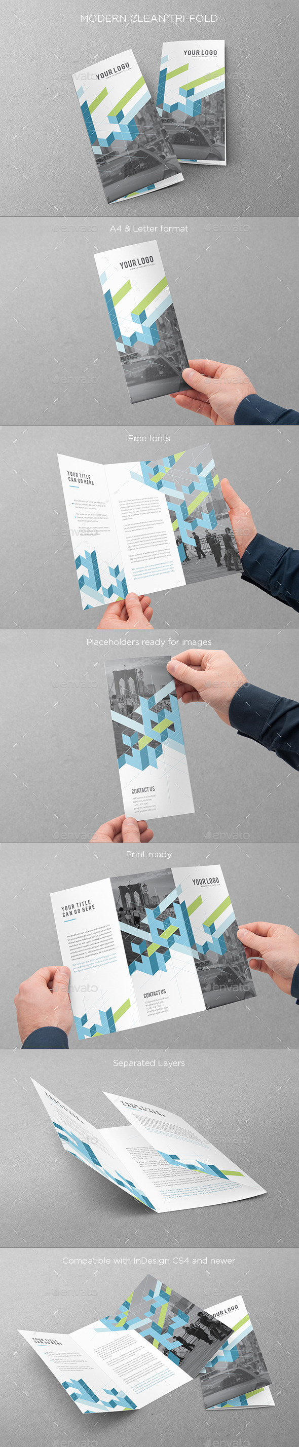 GraphicRiver Modern Clean Trifold 10243378