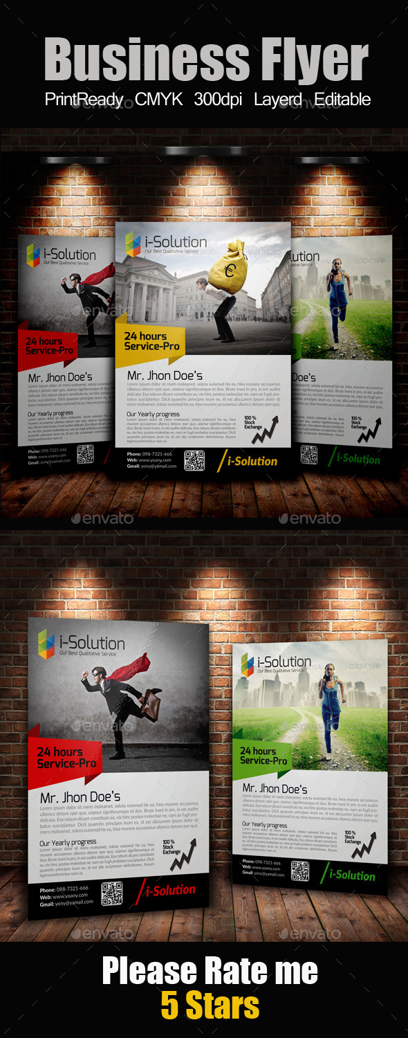 GraphicRiver A4 Business Flyer 10243398