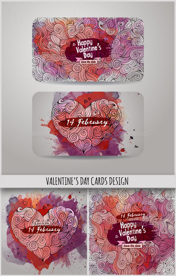 GraphicRiver Valentine s Day Cards Design 10243458