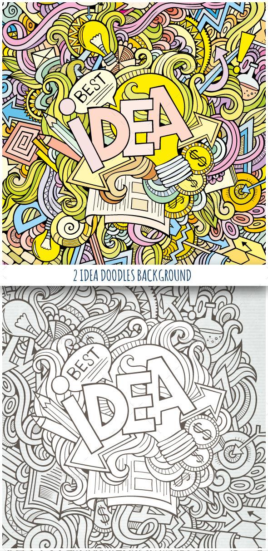 GraphicRiver 2 Idea Doodles Backgrounds 10243510