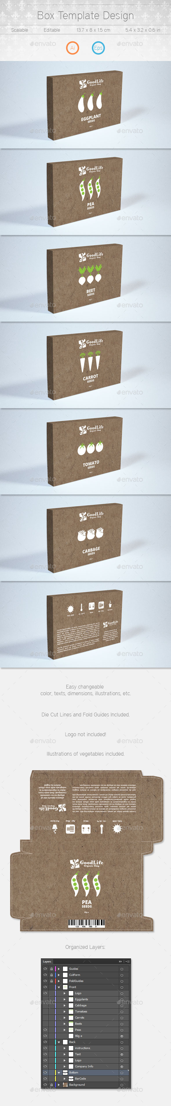 GraphicRiver Box Template Design 10243679