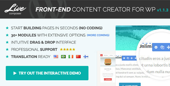 Live Composer - Front-End WordPress Page Builder - CodeCanyon Item for Sale