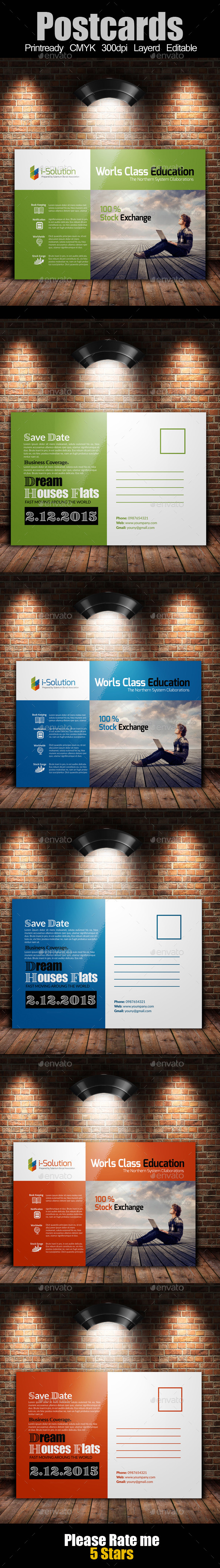 GraphicRiver Education and Business Post Cards 10243766