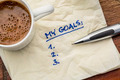 my goals list on napkin - PhotoDune Item for Sale