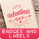 14 Valentine's Day Vintage Badges and Labels - GraphicRiver Item for Sale