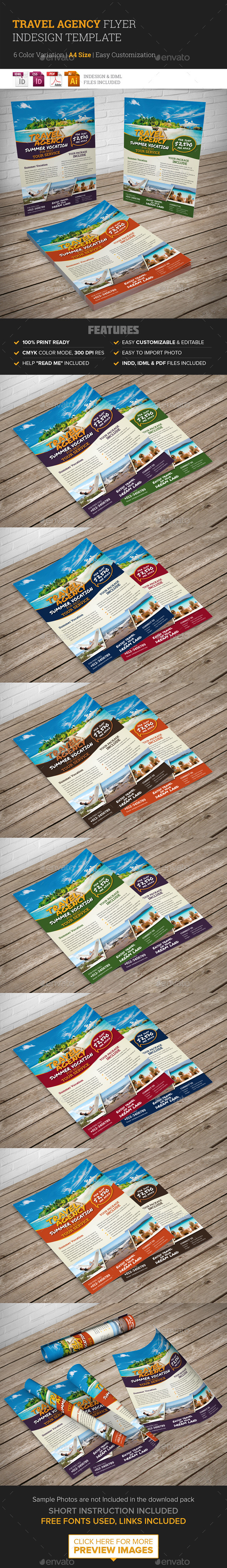 GraphicRiver Travel Agency Flyer Indesign Template 10243853