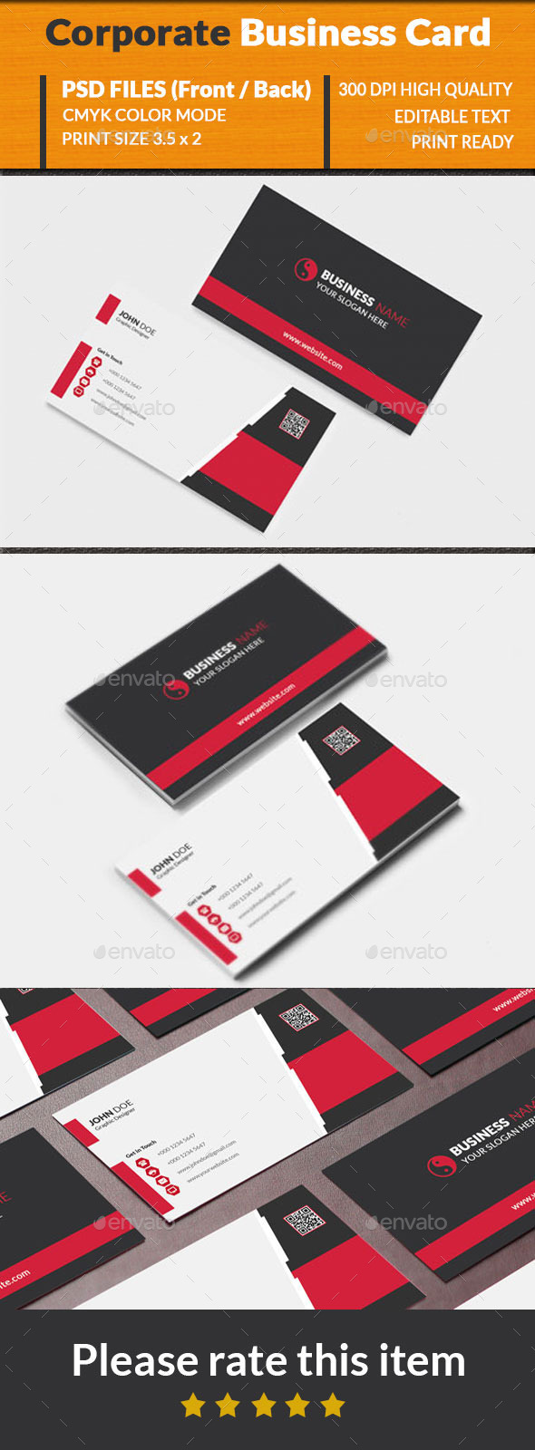 GraphicRiver Corporate Business Card 10244597