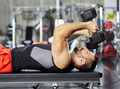 Man doing chest workout