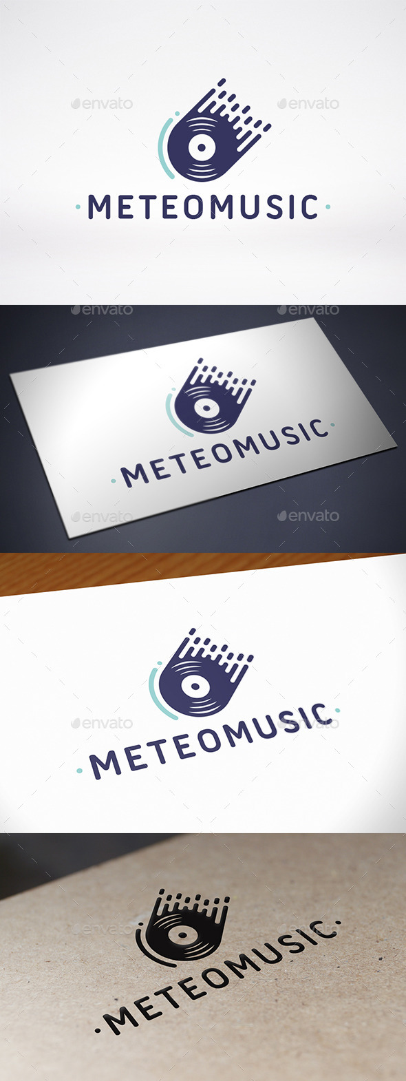 Meteor Music Records Logo Template