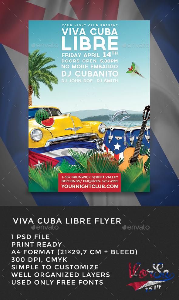 GraphicRiver Viva Cuba Libre Flyer 10245106