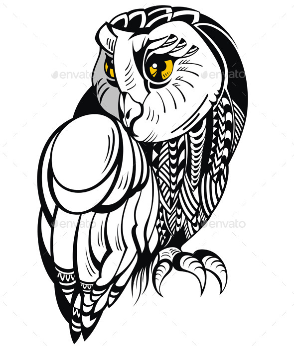 GraphicRiver Decorative Owl 10245206